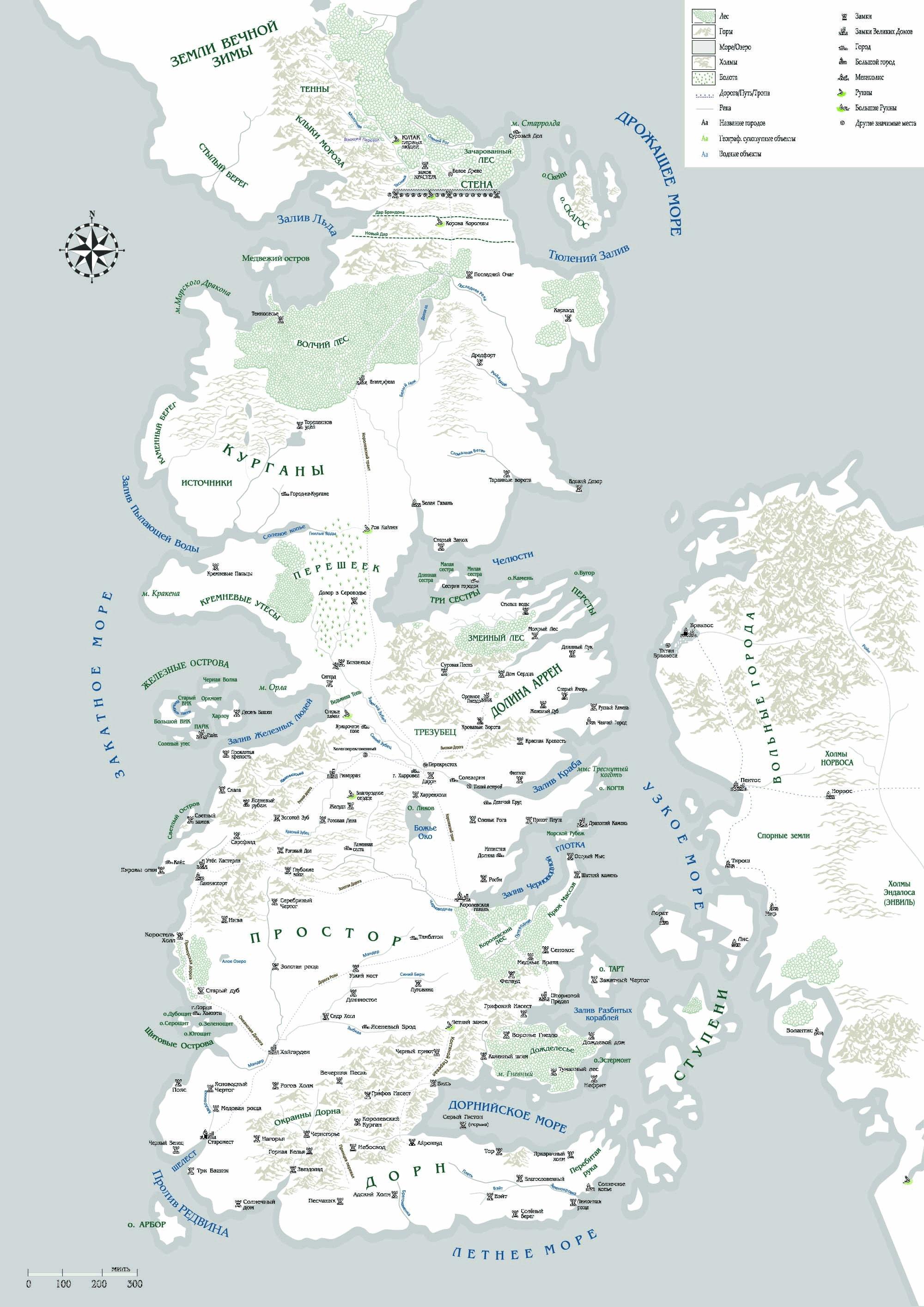 Карта Вестероса На Русском
